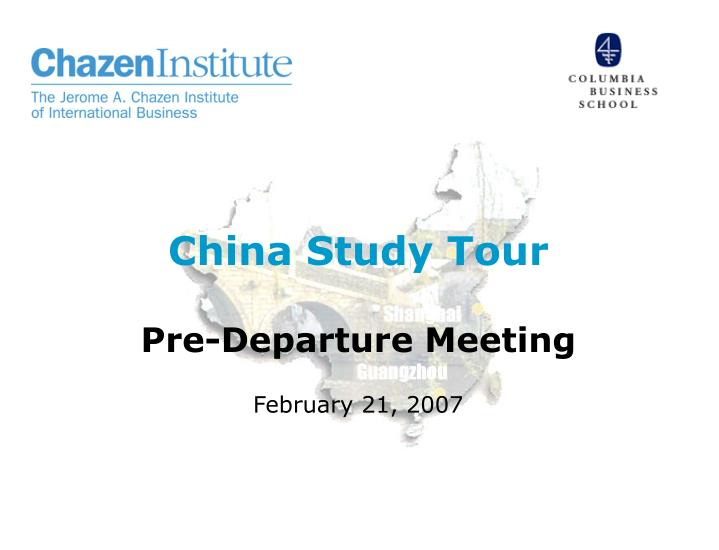 china study tour pre departure meeting n.