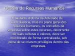 gest o de recursos humanos