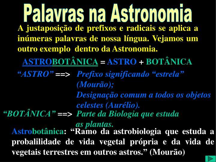 A Palavras Astronomia