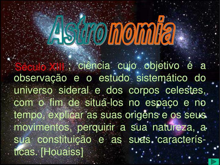 Astro- e  -nomia