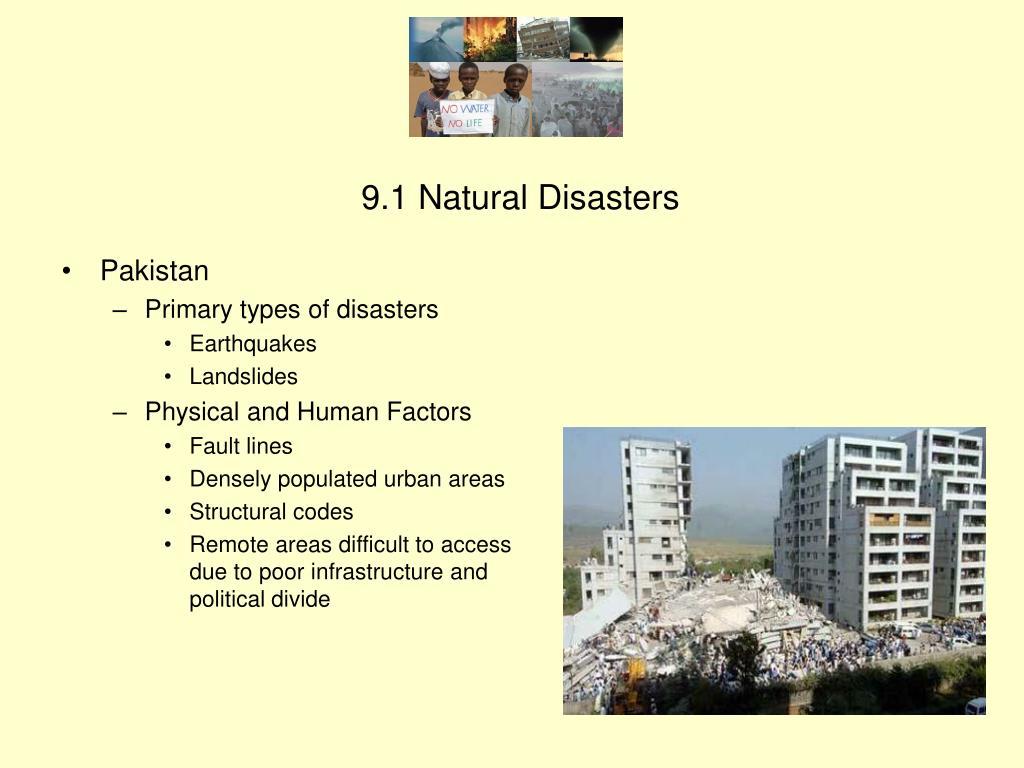 9.1 Natural Disasters