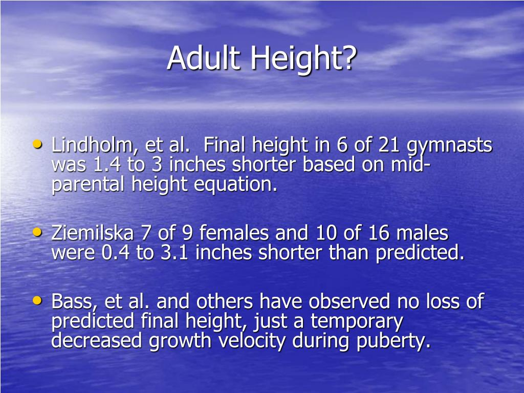 Adult Height?