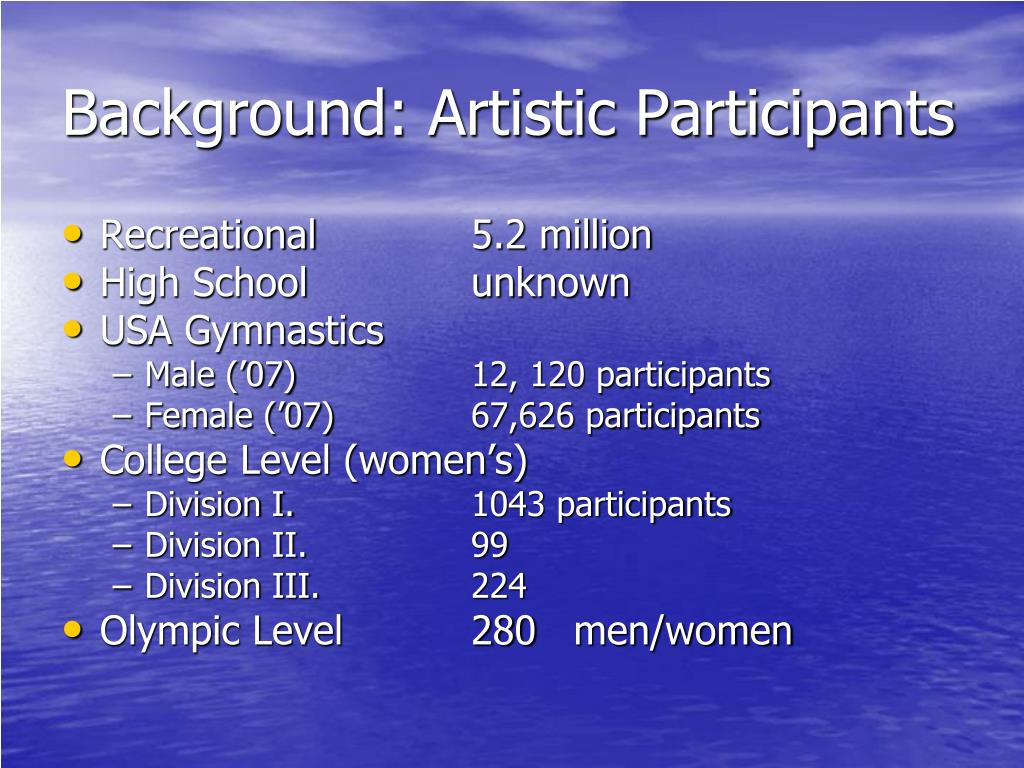 Background: Artistic Participants