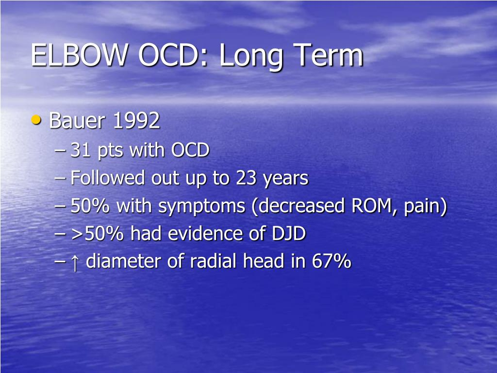 ELBOW OCD: Long Term
