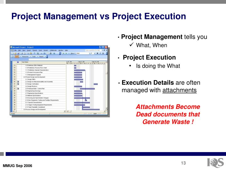 Project Management vs Project Execution
