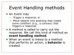 event handling methods