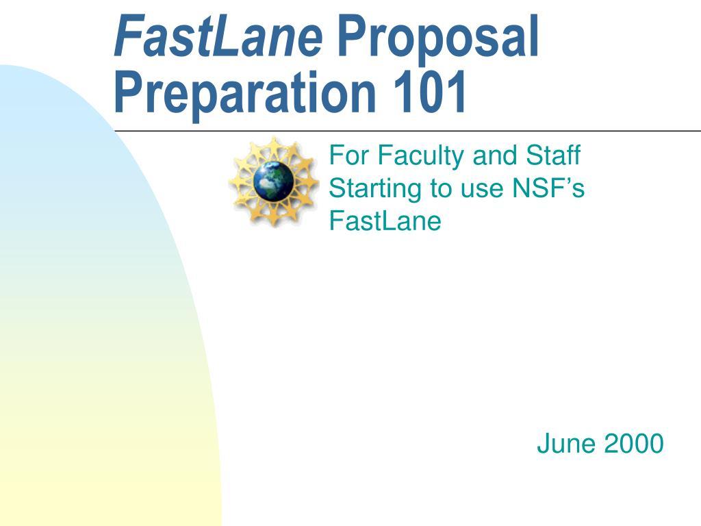 fastlane proposal preparation 101 l.