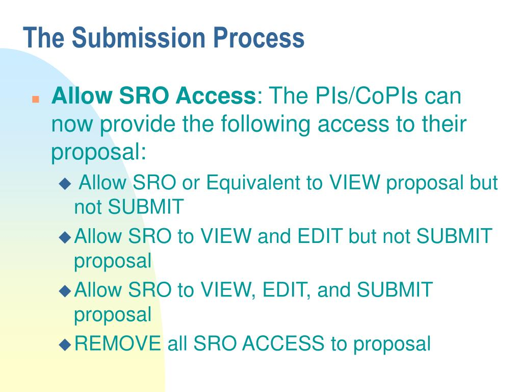 The Submission Process