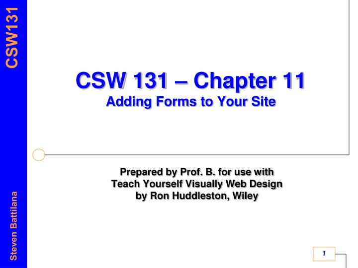csw 131 chapter 11 adding forms to your site n.