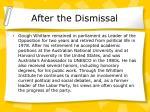 after the dismissal