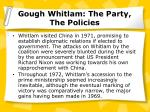 gough whitlam the party the policies13