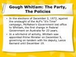 gough whitlam the party the policies14