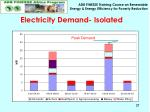 electricity demand isolated