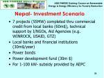 nepal investment scenario