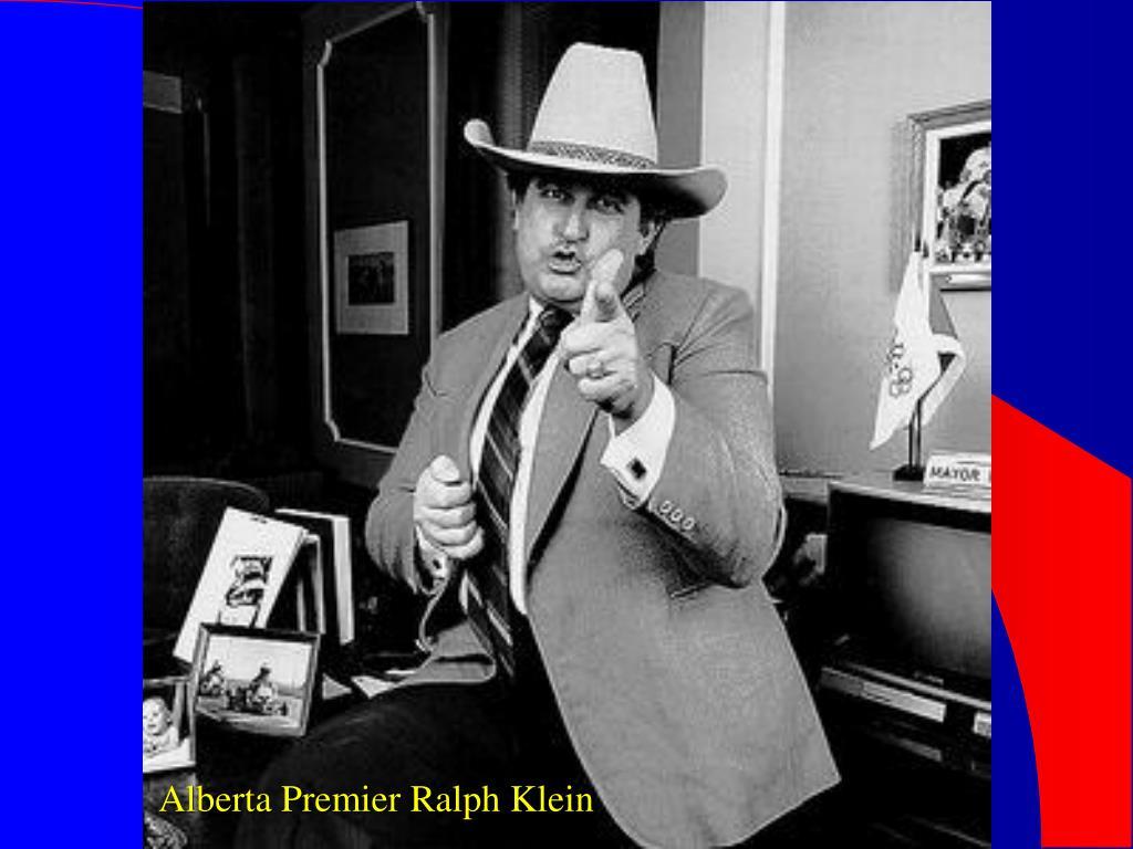 Alberta Premier Ralph Klein