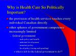 why is health care so politically important20