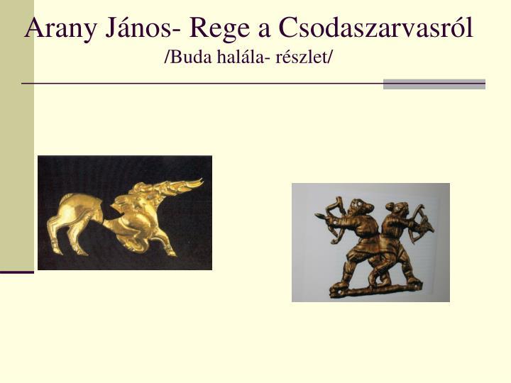 Arany János- Rege a Csodaszarvasról