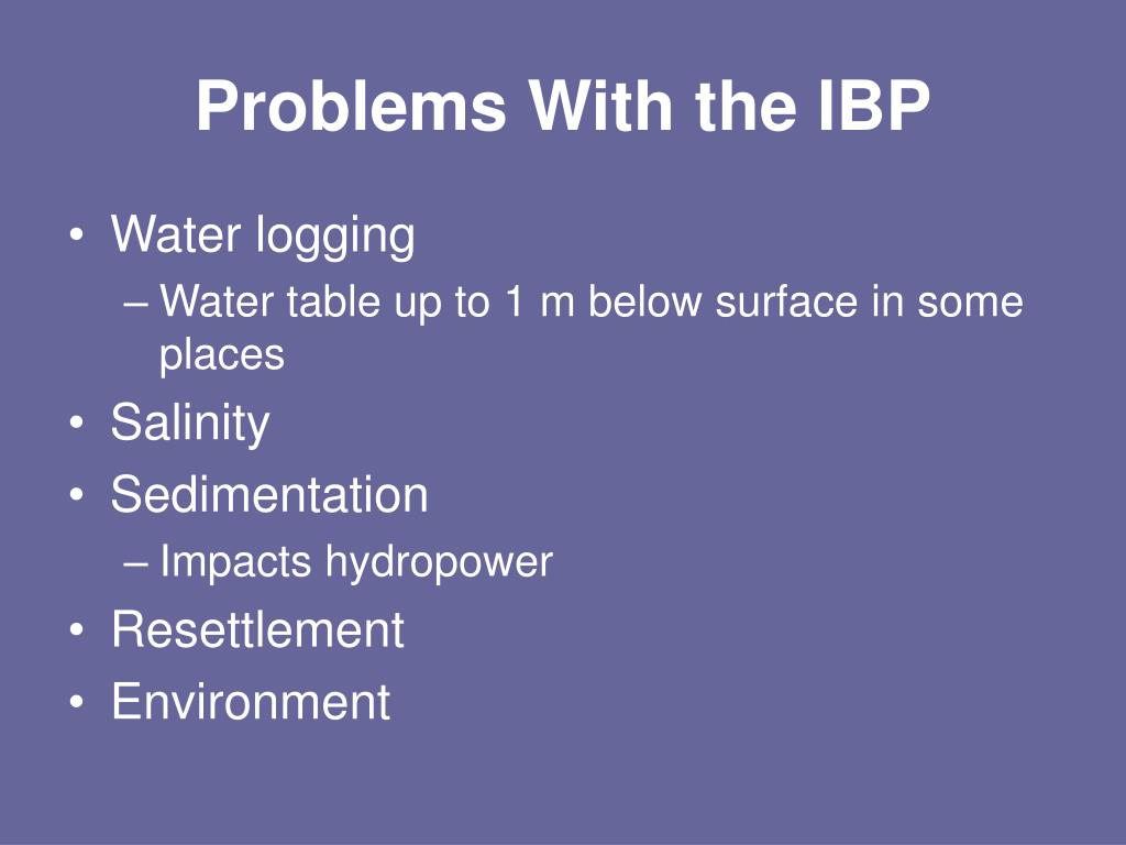 Problems With the IBP
