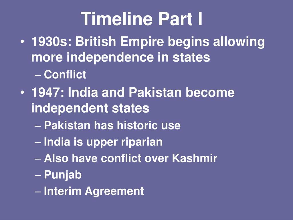 Timeline Part I