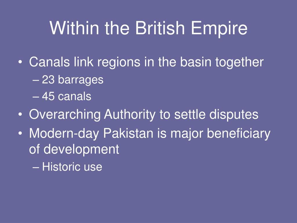 Within the British Empire