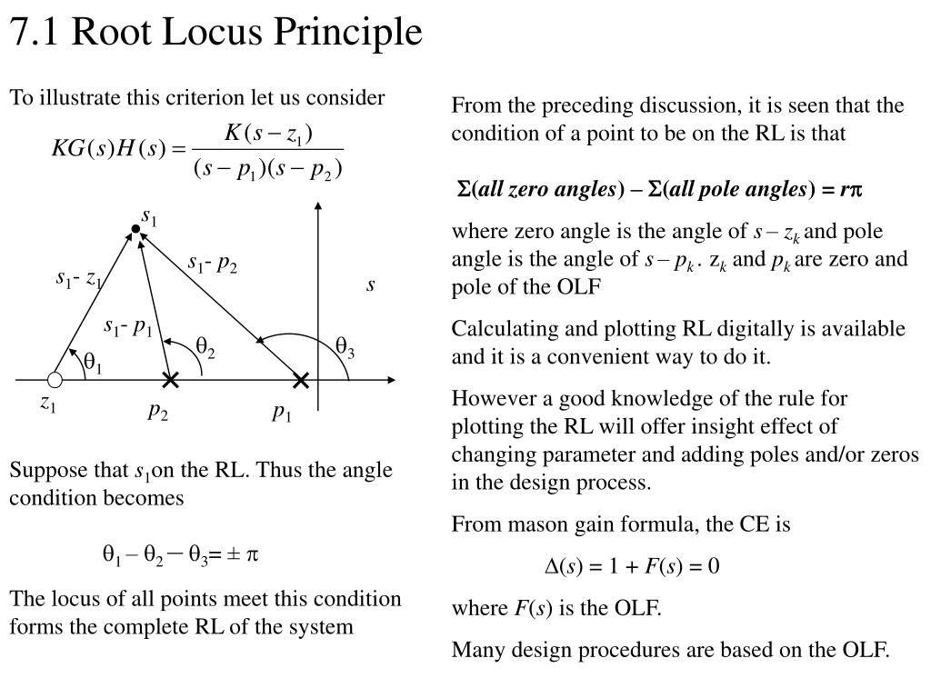 PPT - 7 1 Root Locus (RL) Principle We introduce the RL through an