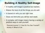 building a healthy self image