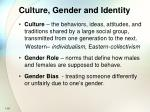 culture gender and identity