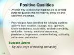 positive qualities