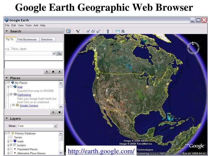 Google Earth Geographic Web Browser