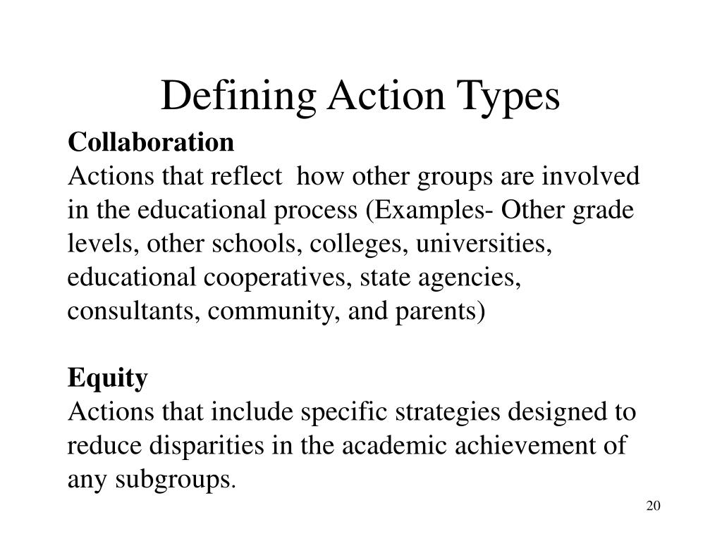 Defining Action Types