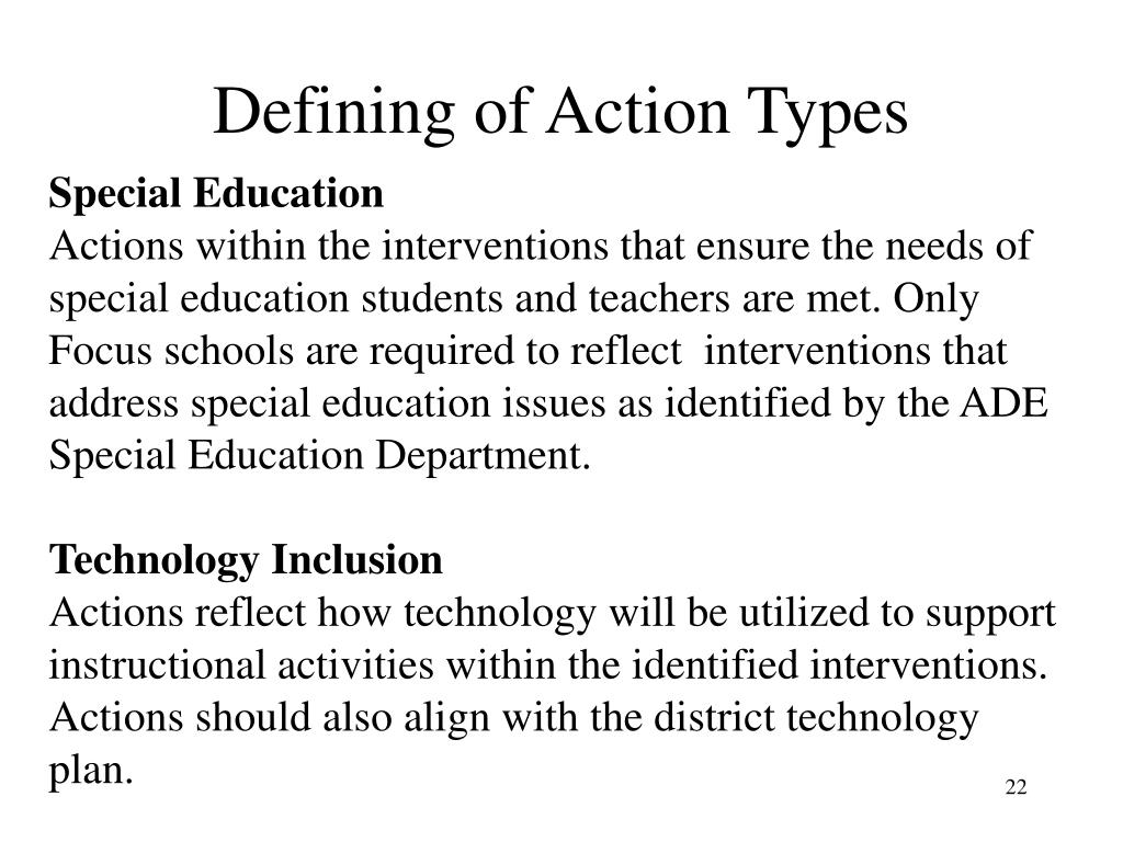 Defining of Action Types