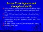 recent event supports and examples cont d