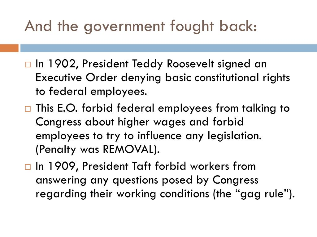 And the government fought back: