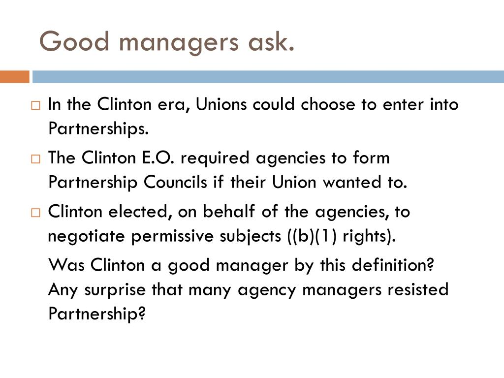 Good managers ask.