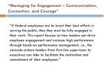 managing for engagement communication connection and courage