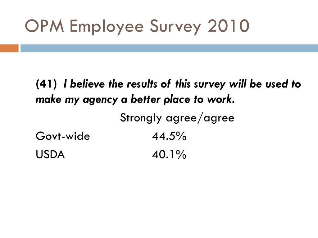 OPM Employee Survey 2010