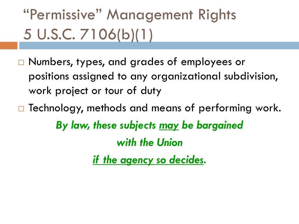 """Permissive"" Management Rights"