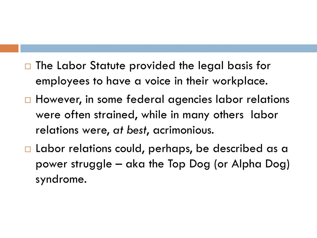 The Labor Statute provided the legal basis for employees to have a voice in their workplace.