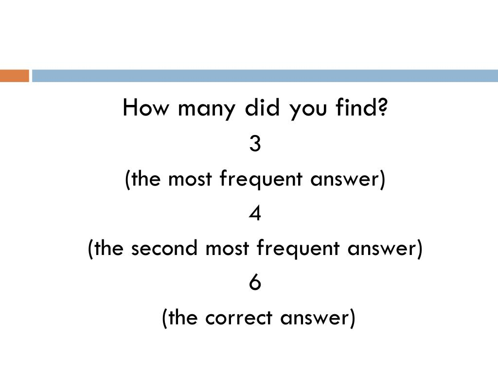How many did you find?