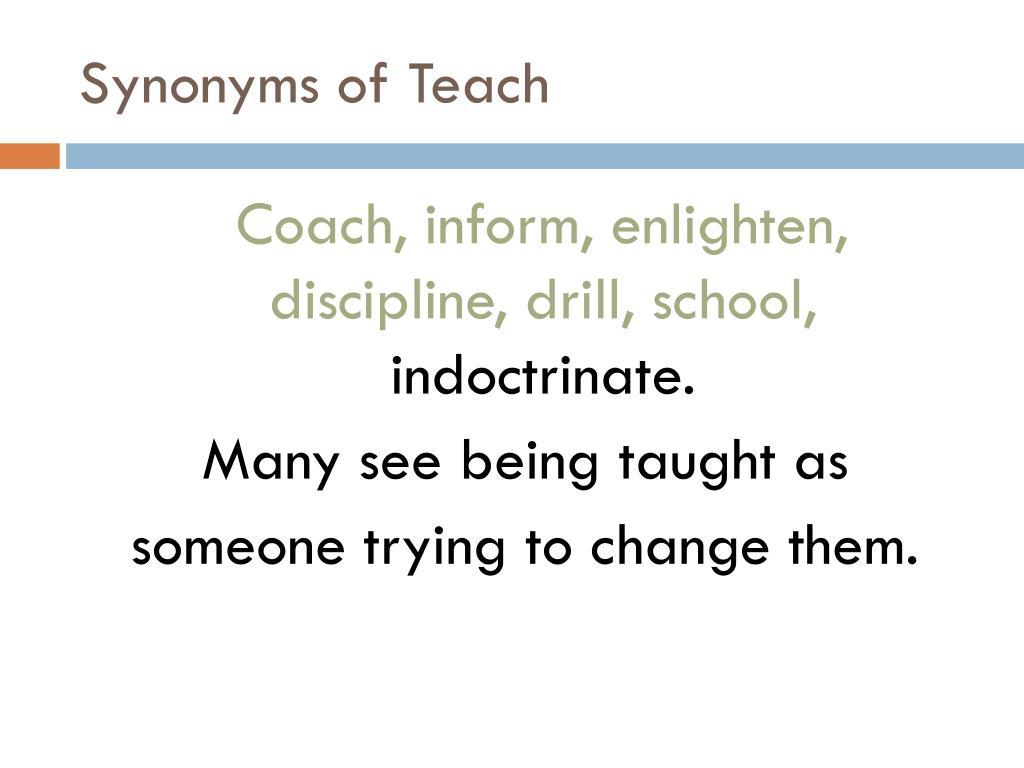 Synonyms of Teach