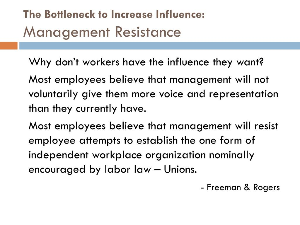The Bottleneck to Increase Influence: