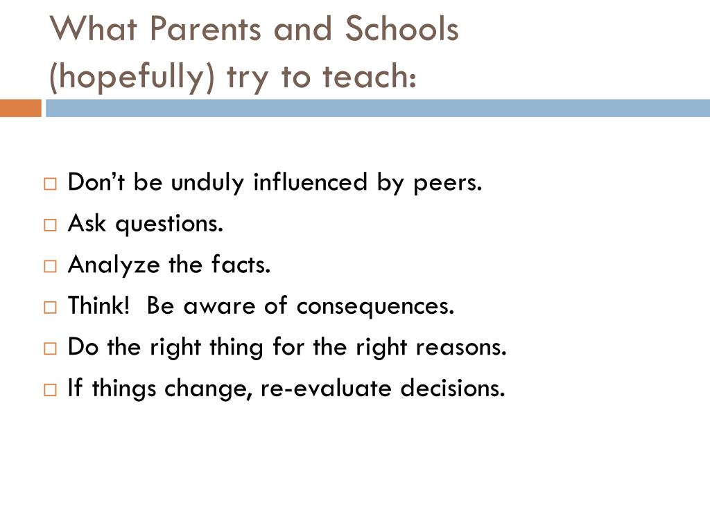 What Parents and Schools