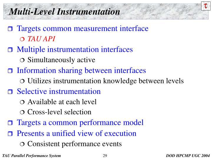 Multi-Level Instrumentation