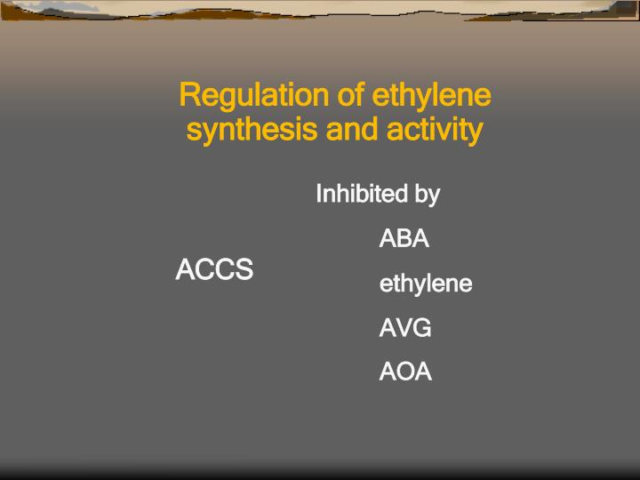 Regulation of ethylene