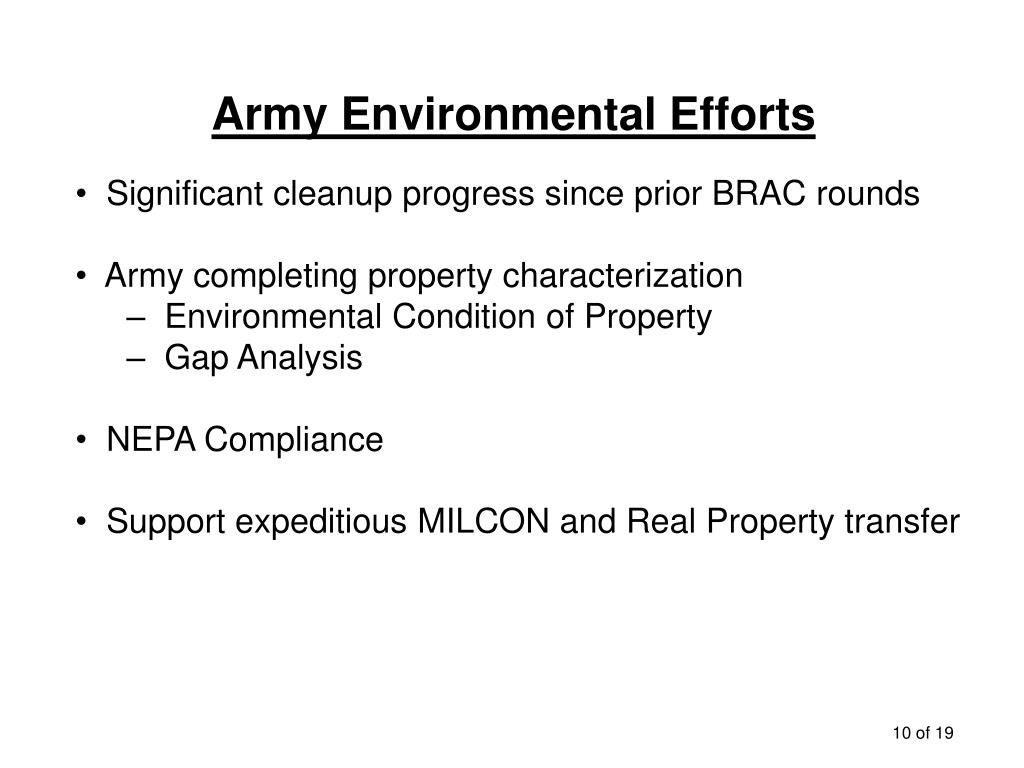 Army Environmental Efforts