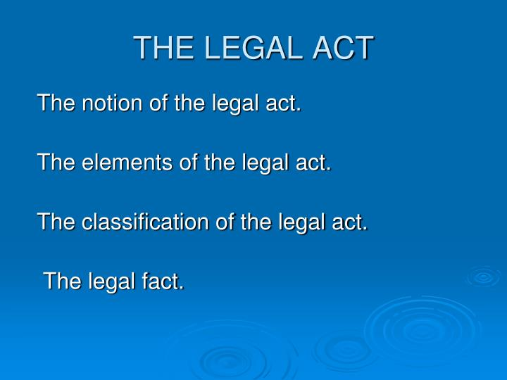 the legal act n.
