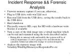 incident response forensic analysis