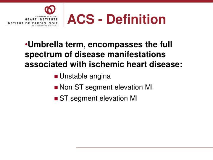 Acs definition