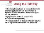 using the pathway18