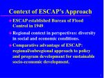 context of escap s approach